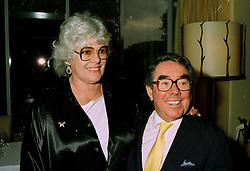 MR & MRS RONNIE CORBETT he is the comedian,  at a reception in London on 25th June 1997.<br /> LZS 25