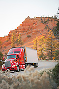 Truck driving the Scenic Byway 12, Utah, United States of America