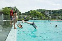 Learning to dive at the Kiwanis Pool in St. Johnsbury Vermont.  Karen Bobotas / for Kiwanis International