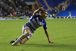 22 August 2017 -  EFL Cup Round Two - Reading v Millwall - Sam Smith of Reading celebrates scoring their 3rd goal - Photo: Marc Atkins/Offside