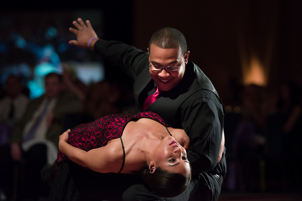 """04/13/13 --  Baltimore, MD -- Dancers Jerel and Tonya Registre at the Alzheimer's Association's """"Memory Ball-Dancing Stars"""" event, held at the Marriott Waterfront Hotel on Saturday."""