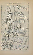 Plan of Waterloo Station From the book ' London and its environs : a practical guide to the metropolis and its vicinity, illustrated by maps, plans and views ' by Adam and Charles Black Published in Edinburgh by A. & C. Black 1862