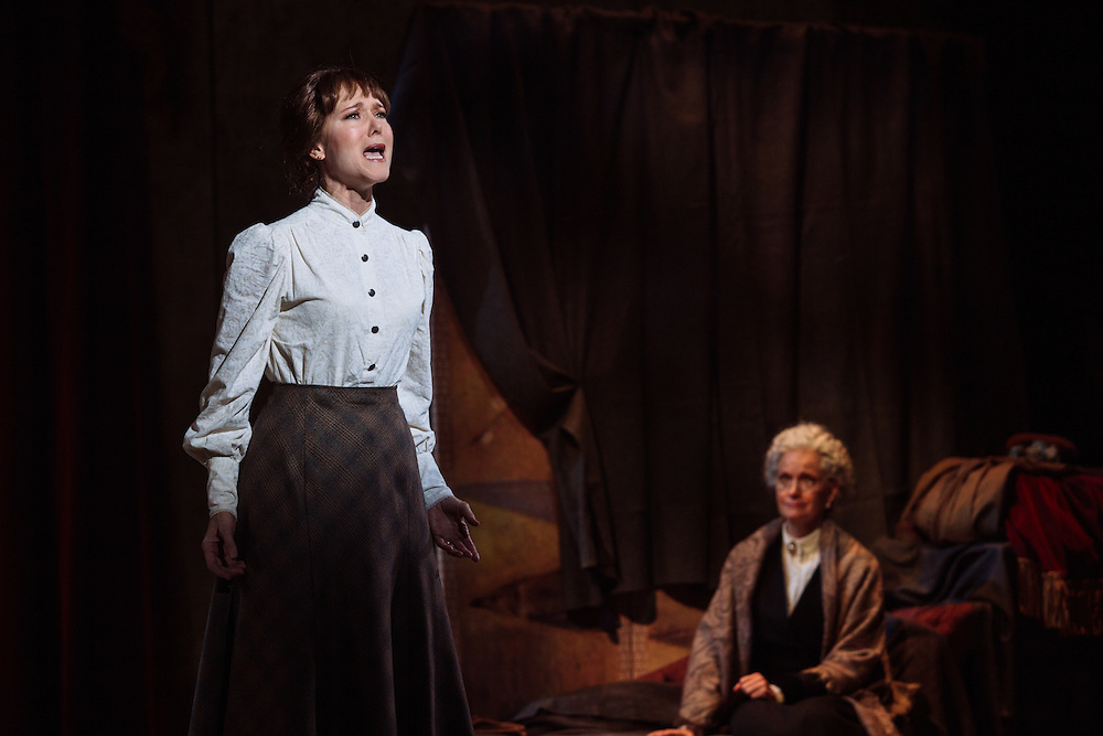 """Rebecca Luker performs as Adult Marie van Goethem during the scene """"What You Made of Me"""" in Little Dancer at the Kennedy Center in Washington, D.C. This is a world premiere Kennedy Center produced production that is directed and choreographed by Susan Stroman, book and lyrics by Lynn Ahrens, and music by Stephen Flaherty."""
