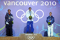 VANCOUVER OLYMPIC GAMES 2010 - VANCOUVER (CAN) - 14/02/2010 - PHOTO : FRANCK FAUGERE / DPPI<br /> BIATHLON / 10KM SPRINT MEN - VINCENT JAY (FRA) / GOLD MEDAL