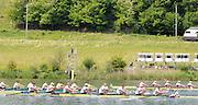 Lucerne, SWITZERLAND. GBR M8+ Silver  medalist  men's Eight at the  2012 FISA World Cup II, Lucerne Regatta.  Rotsee  Rowing Course,  Sunday  27/05/2012    [Mandatory Credit Peter Spurrier/ Intersport Images]..Bow, Greg SEARLE, Alex PARTRIDGE, Marcus BATEMAN, Tom RANSLEY, Mo SBIHI, Ric EGINGTON, Matt LANDRIDGE, James FOAD and cox Phelen HILL...