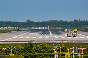 A general view of Gatwick airport deserted runway as EasyJet planes were seen grounded with British Airways and Virgin Atlantic almost gone from the business due to the coronavirus pandemic outbreak in Britain, Wednesday, May 6, 2020. (Photo/ Vudi Xhymshiti)