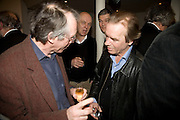 IAN MCEWAN, MARTIN AMIS , party to celebrate the 100th issue of Granta magazine ( guest edited by William Boyd.) hosted by Sigrid Rausing and Eric Abraham. Twentieth Century Theatre. Westbourne Gro. London.W11  15 January 2008. -DO NOT ARCHIVE-© Copyright Photograph by Dafydd Jones. 248 Clapham Rd. London SW9 0PZ. Tel 0207 820 0771. www.dafjones.com.