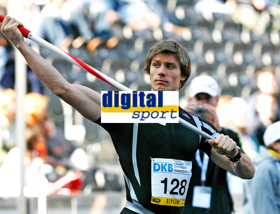 Friidrett<br /> Golden League Berlin<br /> 16.09.2007<br /> Foto: Hasse Sjøgren, Digitalsport<br /> NORWAY ONLY<br /> <br /> Andreas Thorkildsen