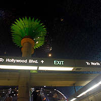 USA, California, Los Angeles. Los Angeles Metro pubic transportation station.