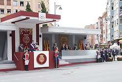 May 27, 2018 - Logrono, La Rioja, Spain - King Felipe VI of Spain, Queen Letizia of Spain attended the Armed Forces Day Homage on May 26, 2018 in Logrono, La Rioja, Spain (Credit Image: © Jack Abuin via ZUMA Wire)