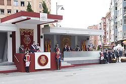 May 27, 2018 - Logrono, La Rioja, Spain - King Felipe VI of Spain, Queen Letizia of Spain attended the Armed Forces Day Homage on May 26, 2018 in Logrono, La Rioja, Spain (Credit Image: © Jack Abuin via ZUMA Wire)