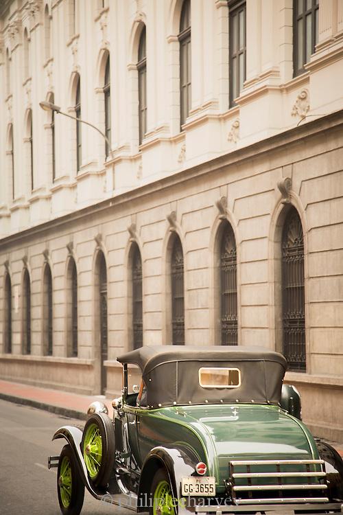 Old car in Lima, Peru, South America