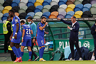 Petit giving instructions to players after goal during the Liga NOS match between Sporting Lisbon and Belenenses SAD at Estadio Jose Alvalade, Lisbon, Portugal on 21 April 2021.