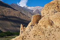 Tadjikistan, Asie centrale, Gorno Badakhshan, Haut Badakhshan, le Pamir, la forteresse de Khaakha dans la vallée du Wakhan// Tajikistan, Central Asia, Gorno Badakhshan, the Pamir, Khaakha fortress in Wakhan valley