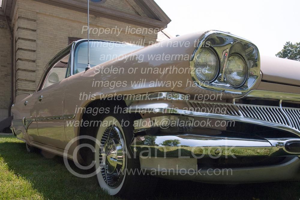 7 August 2010: 1960 Dodge Dart Phoenix 4 door hardtop. Antique Car show, David Davis Mansion, Bloomington Illinois
