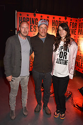 """Matthew Freud, Woody Harrelson, Bella Freud at """"Hoping For Palestine"""" Benefit Concert For Palestinian Refugee Children held at The Roundhouse, Chalk Farm Road, England. 04 June 2018."""