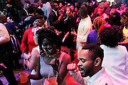 May 19, 2016-Brooklyn, NY: United States: Audience dances the night away at the 2nd Annual (Museum of Contemporary African Diasporic Art (MoCADA) Masquerade Ball held at the Brooklyn Academy of Music on May 19, 2016 in Brooklyn, New York. (Terrence Jennings/terrencejennngs.com)