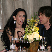 Mick Jagger & L'Wren Scott.**EXCLUSIVE**.2005 Golden Globe Awards Miramax Post Party.Beverly Hilton Hotel.Beverly Hills, CA, USA.Sunday, January, 16, 2005.Photo By Selma Fonseca Celebrityvibe.com, New York, USA, Phone 212-410-5354, email:sales@celebrityvibe.com...