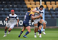Rugby Union - 2019 / 2020 Gallagher Premiership - Worcester Warriors vs Bristol Bears<br /> <br /> Bristol Bears' Ed Holmes is tackled by Worcester Warriors' Francois Venter, at Sixways.<br /> <br /> COLORSPORT/ASHLEY WESTERN