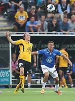 tippeliga, eliteserie, fotball, start, molde, 03.august, 2014<br />Tommy Høiland, Molde<br />Rolf Daniel Vikstøl, Start<br />Foto: Ole Fjalsett