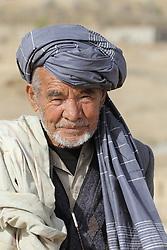 An unnamed old man, Palaj Village, Shahrestan, Daikundi Province, Afghanistan.