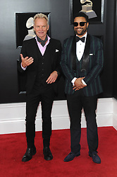 NEW YORK, NY - JANUARY 28: 60th Annual GRAMMY Awards at Madison Square Garden on January 28, 2018 in New York City. 28 Jan 2018 Pictured: Sting and Shaggy. Photo credit: JP/MPI/Capital Pictures / MEGA TheMegaAgency.com +1 888 505 6342