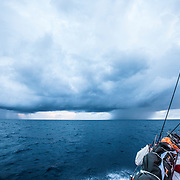 Leg 02, Lisbon to Cape Town, day 07, on board MAPFRE, nubes y lluvias ecuatoriales. Photo by Ugo Fonolla/Volvo Ocean Race. 11 November, 2017