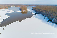 63877-01310 Aerial view after snowfall in winter Stephen A. Forbes St. Park Marion Co. IL