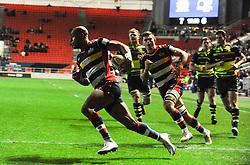 Tom Varndell of Bristol Rugby crosses the line - Mandatory by-line: Alex Davidson/JMP - 08/12/2017 - RUGBY - Ashton Gate Stadium - Bristol, England - Bristol Rugby v Leinster 'A' - B&I Cup