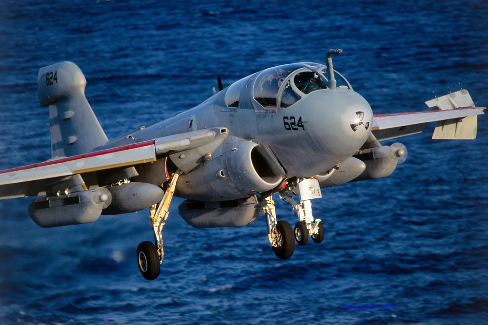EA-6B Prowler landing carrier