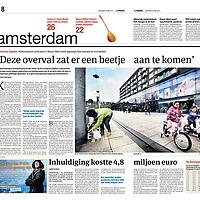 Parool 25 mei 2013:<br /> Overval winkelcentrum Nieuw-West Lambertus Zijlplein