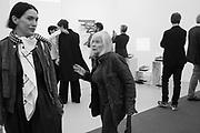 SARAH MORRIS; DORIS SAATCHI, Opening of the Frieze art Fair, Regents Park. London.  4 October 2017