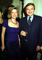 COUNT & COUNTESS EDMONDO DI ROBILANT, at a party in London on 9th November 1999.MYW 53