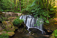 Whatcom Falls along Whatcom Creek at Whatcom Falls Park in Bellingham, Washington State, USA