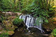 Whatcom Falls along Whatcom Creek at Whatcom Falls Park in Bellingham, Washington State, USA