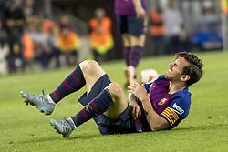 October 20, 2018 - Barcelona, Catalonia, Spain - Leo Messi injuried during the spanish league La Liga match between FC Barcelona and Sevilla FC at Camp Nou Stadium in Barcelona, Catalonia, Spain on October 20, 2018  (Credit Image: © Miquel Llop/NurPhoto via ZUMA Press)