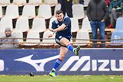 USA fly half Will Magic kicks a conversion in the first half during the November Test match between Romania and USA at Ghencea Stadium, Bucharest, Romania on 17 November 2018.