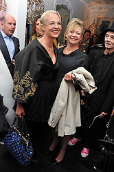 Left to right, AMANDA ELIASCH and KAY SAATCHI at the after party for the press night of 'As I Like It' held at the home of Amanda Eliasch, 24 Cheyne Walk, London on 5th July 2011.