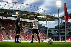 "Derby Star ball and Mark van der Maarel #2 of Utrecht. FC Utrecht convincingly won the practice match against sc Heerenveen. The ""Domstedelingen"" were too strong for SC Heerenveen in Stadium Galgenwaard with 4-1<br /> on August 20, 2020 in Utrecht, Netherlands"