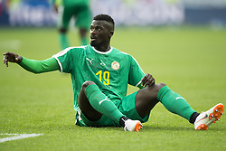 June 19, 2018 - Moscow - Mbaye Niang of Senegal sits on the pitch during the 2018 FIFA World Cup Group H match between Poland and Senegal at Spartak Stadium in Moscow, Russia on June 19, 2018  (Credit Image: © Andrew Surma/NurPhoto via ZUMA Press)