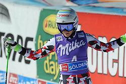 24.10.2015, Rettenbachferner, Sölden, AUT, FIS Weltcup Ski Alpin, Soelden, Riesenslalom, Damen, 2. Lauf, im Bild Eva-Maria Brem (AUT) // Eva-Maria Brem of Austria reacts after the second run of ladies Giant Slalom of Soelden FIS Ski Alpine World Cup at the Rettenbachferner in Sölden, Austria on 2015/10/24. EXPA Pictures © 2015, PhotoCredit: EXPA/ Erich Spiess