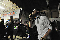 """Singer Calvin Gines of Vianna performs during """"Nightmare on Alisal Street,"""" a boisterous five-band metal show put on by independent Salinas organizers on Saturday, October 19th at Rock Boxing Gym."""