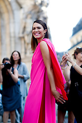 Street style, Mandy Moore arriving at Schiaparelli Fall-Winter 2018-2019 Haute Couture show held at Opera Garnier, in Paris, France, on July 2nd, 2018. Photo by Marie-Paola Bertrand-Hillion/ABACAPRESS.COM