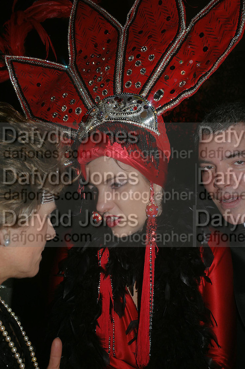 Frederica de Llaroca.  Andy & Patti Wong's Chinese New Year party to celebrate the year of the Rooster held at the Great Eastern Hotel, Liverpool Street, London.29th January 2005. The theme was a night of hedonism in 1920's Shanghai. . ONE TIME USE ONLY - DO NOT ARCHIVE  © Copyright Photograph by Dafydd Jones 66 Stockwell Park Rd. London SW9 0DA Tel 020 7733 0108 www.dafjones.com