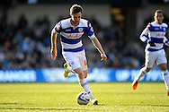 Queens Park Rangers Will Keane on the ball.  Skybet football league championship match , Queens Park Rangers v Blackpool at Loftus Road in London  on Saturday 29th March 2014.<br /> pic by John Fletcher, Andrew Orchard sports photography.