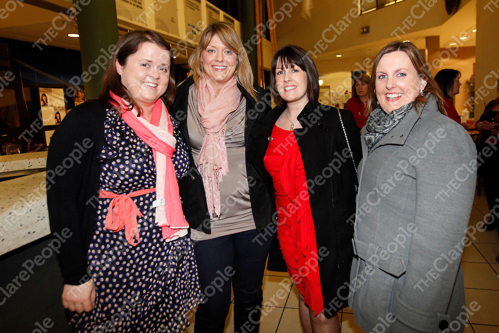 22/01/11<br /> Miriam Crowley, Suzanne Cahill, Caroline Crowley and Colette Cahill pictured at Neil Delemere gig at Glor, Ennis,<br /> Picture: Don Moloney / Press 22