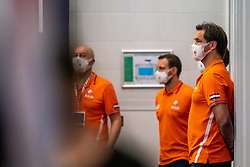 Coach Harry van der Meer of the Netherlands before the match against Croatia during the Olympic qualifying tournament. The Dutch water polo players are on the hunt for a starting ticket for the Olympic Games on February 15, 2021 in Rotterdam
