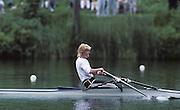 Lucerne, SWITZERLAND GER W1X, Beate SCHRAMM 1992 FISA World Cup Regatta, Lucerne. Lake Rotsee.  [Mandatory Credit: Peter Spurrier: Intersport Images] 1992 Lucerne International Regatta and World Cup, Switzerland