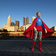 """Portraits of Susann Castore most commonly know as the """"A-OK Lady"""" on Friday, October 24 2014 in Columbus, Ohio. Susann's mission is to promote kindness and hope in Ohio(Photo by Leonardo Carrizo)"""