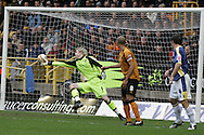 Coca Cola championship, Wolverhampton Wanderers v Cardiff City on Sunday 22nd Feb 2009 . pic by Andrew Orchard, Andrew Orchard sports photography,  Cardiff's Michael Chopra (out of picture) scores his goal past Wolves keeper Wayne Hennessey.